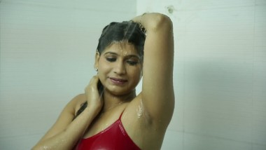 Desi Indian Nude in Bathroom Shows her Boobs tits