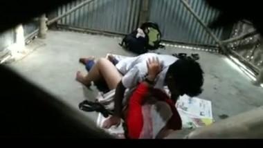 School girl hidden cam garage sex