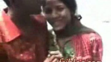 Bengali village girl outdoor boobs pressing by lover