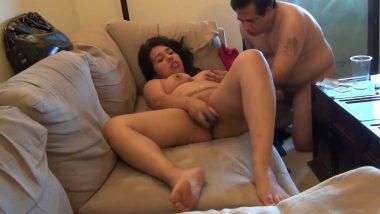 Pune escort girl masturbation with dildo front of client