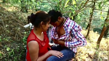 Desi sex mms of Mumbai girl says in outdoor park JALDI KARO KOI DEKH LEGA