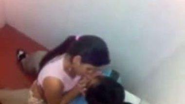 Hidden cam fuck by desi lovers in college bathroom