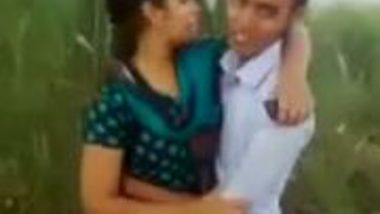 Village outdoor kissing & smooch mms scandal