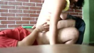 Amateur college girl riding cock up & down