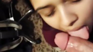 Beautiful indian teen sucking cock