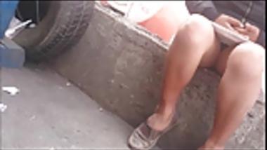 mujer sucia de la calle