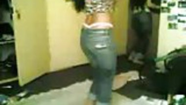 Sexy UK desi girl dancing and stripping