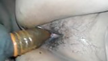 Indian wife fucking hard doggy style with condom