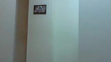 Skinny latina naked front the webcam