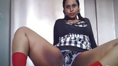 42 inches behind Indian chick dressed up as a horny wet school chick