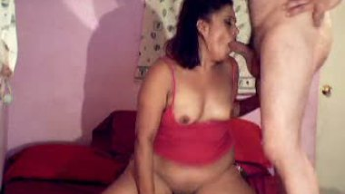 Threesome sex xxx BBW aunty with neighbors