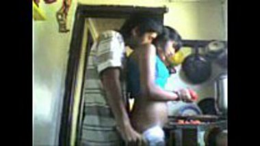 Indian teen's hot sex in the kitchen