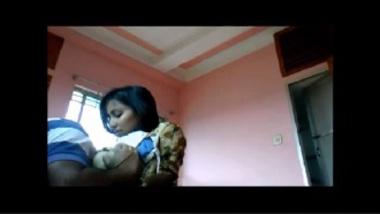 Hot Bangla college girl enjoying sex at home