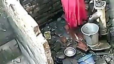 Indian girl bathing video taken hidden