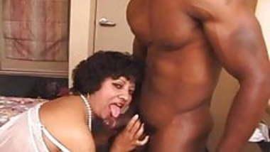 Big hairy NRI Indian milf takes black and white men