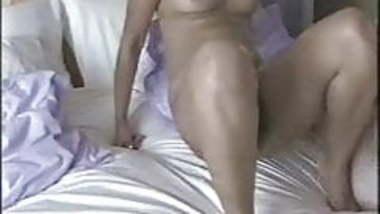 British Indian Malvina with white boyfriend in bedroom