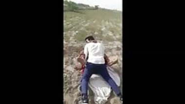 Desi village lover caught in field