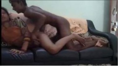 Indian Bhabhi Having Erotic Sex With Servant On Sofa