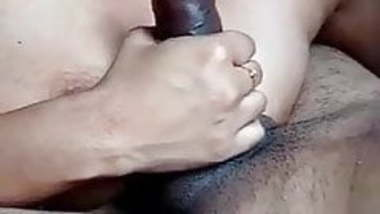 Beautiful Horny Indian babe licking Cock